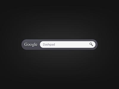 Google  dashpad widget
