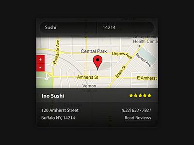 Yelp dashpad widget dark app ui app ui iphone ipad dashboard