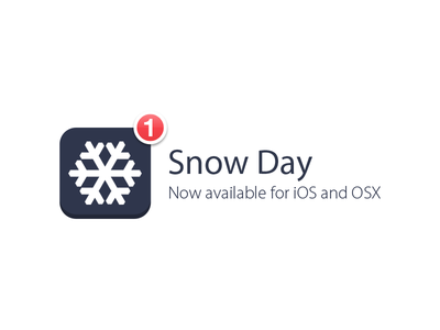 Snow Day - WNY Snow Closings app snow day design ui coding
