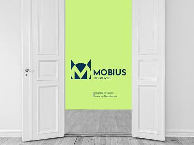 Mobius. mobius typography logo illustration icon graphic design design branding brandidentity