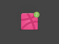 Dribbble invitation X2
