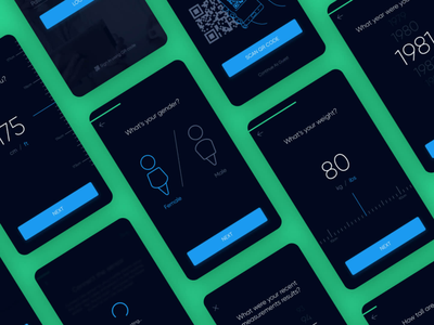 Medical app signup process icons signup interface flat ux ui app mobile medical