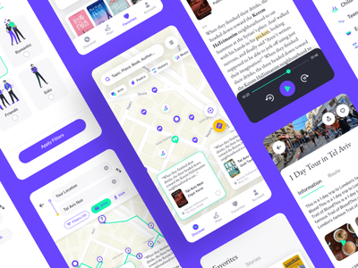 Mappo app mobile icons ux illustration flat search map tourism books ui  ux mobile app travel