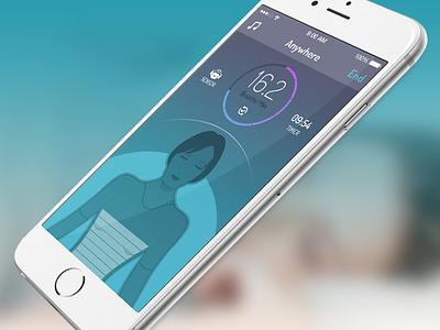New wearable app wearable app sensor avatar flat graph iphone6 ios sleep