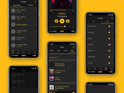 DEWALT TSTAK RADIO player music player mobile ui dewalt iphone iot music ios
