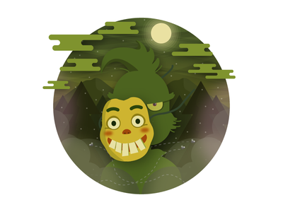 The grinch wicked scheming illustration holiday grinch evil curly christmas