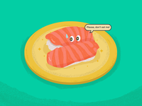 The Little Sushi guy  - Please, don't eat me!
