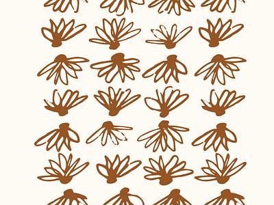Daisy design floral vector seamless pattern illustration