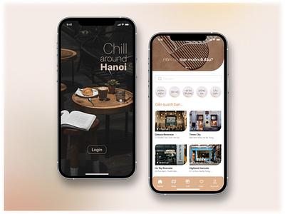 REVIEW COFFEE SHOP & RESERVATIONS vietnam hanoi chill home review coffee shop branding login visual ui design