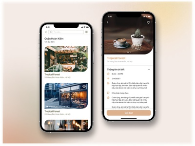 REVIEW COFFEE SHOP & RESERVATIONS booking shop review coffee home visual ui design