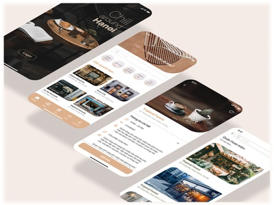 REVIEW COFFEE SHOP & RESERVATIONS chill booking coffee shop review branding home ux visual ui design