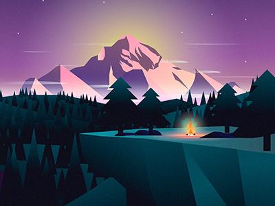Slovenia travel illustration