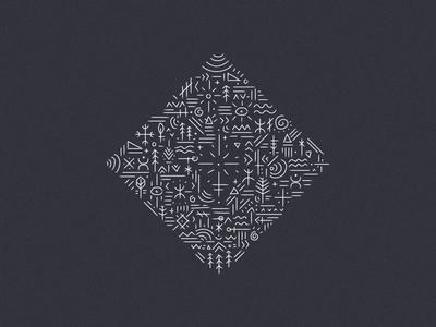 Flash — Ethnic travel minimalist sketch vector design identity branding illustration