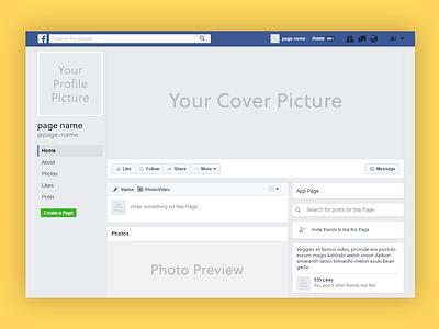 Facebook Page Mockup free mockup showcase branding psd mockup page facebook