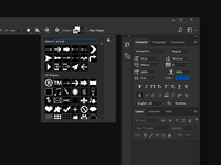 Adobe Custom Shapes Search Concept