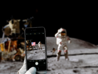 Iphone on the moon