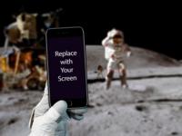 iPhone on the moon - Mockup Freebie