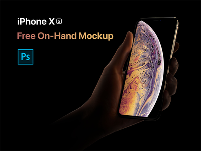 iPhone XS On Hand Mockup psd on hand iphone xs mockup iphone xs iphone freebie mockup