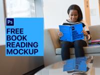 Book Cover Design Mockup, Girl Reading a Book