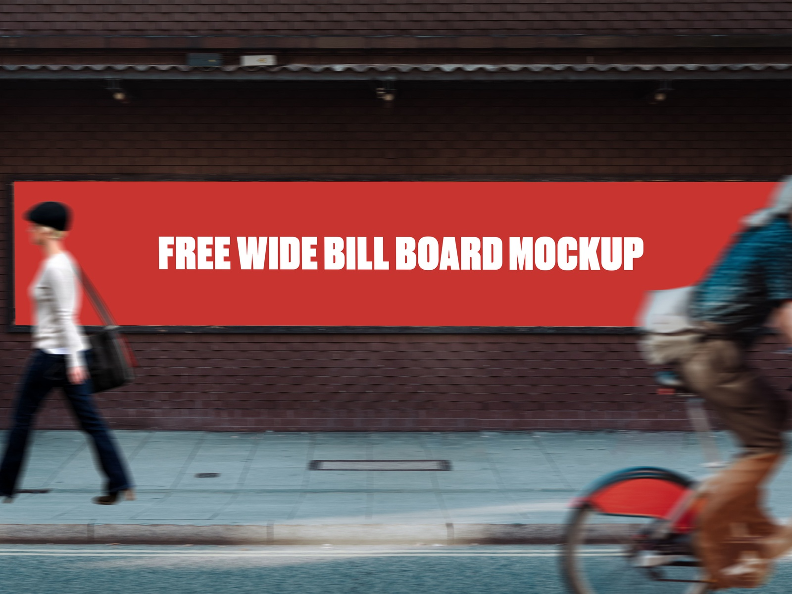 Free Wide Bill Board Mockup billboard banner free mockup freebie psd design branding mockup