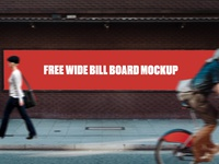 Free Wide Bill Board Mockup
