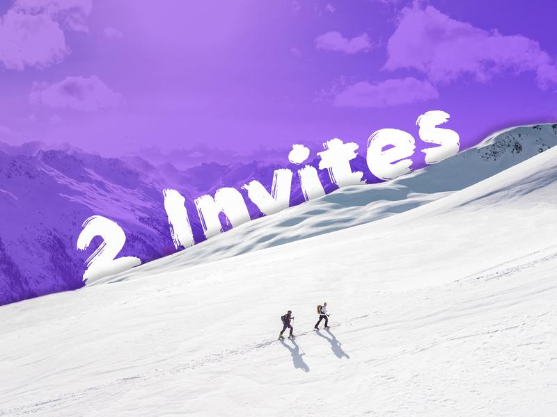 2 Dribbble Invites design dribbble debut hiking mountain get drifted invite invites