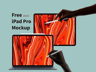 Free iPad Pro 2018 Mockup free hand mockup ipencil apple 2018 ipad pro free mockup freebie psd design mockup