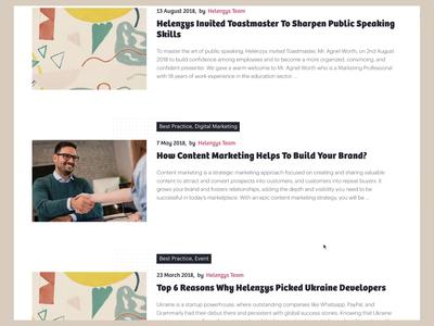 Blog Page Workflow ui video photoshop sketch design website article blog