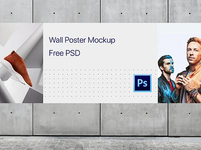 Free Wall Poster Mockup free design banner free mockup freebie psd mockup