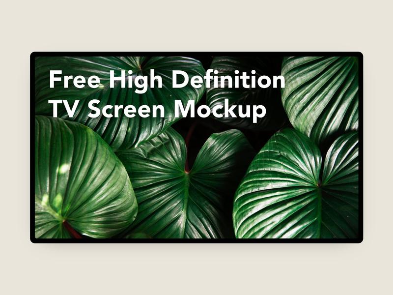 Free High Definition TV Screen Mockup free screen mockup tv mockup design ui banner website free mockup freebie psd branding mockup