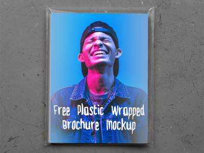 Free Plastic Wrapped Brochure Mockup wrapped brochure free free mockup freebie psd branding mockup design