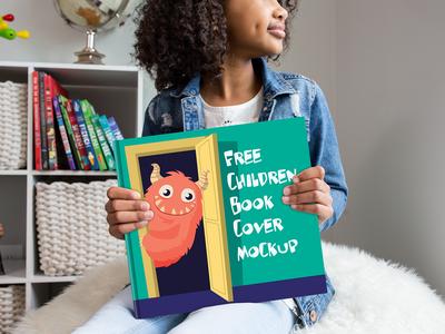 Free Children Book Cover Mockup