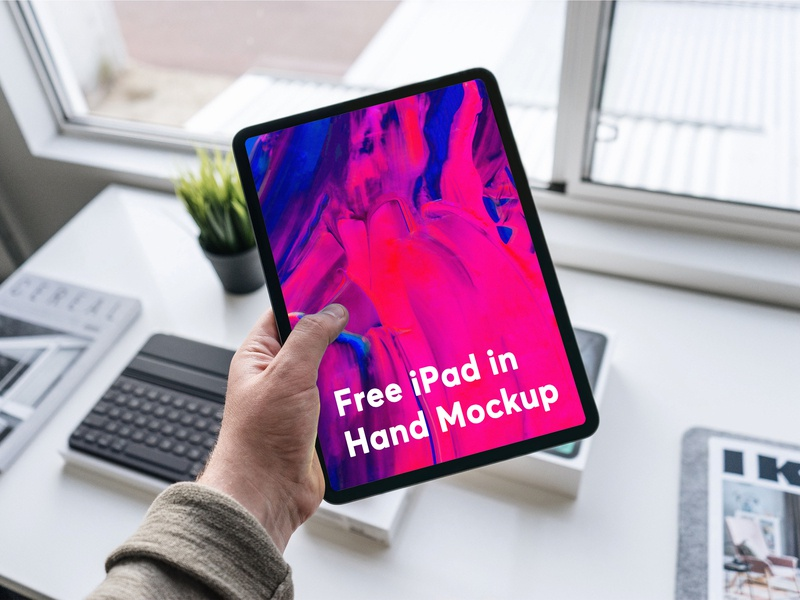 Free iPad in Hand Mockup free psd mockup free download psd mockup download free mockup psd free download ipad pro ipad hand mockup free free mockup freebie psd branding mockup design