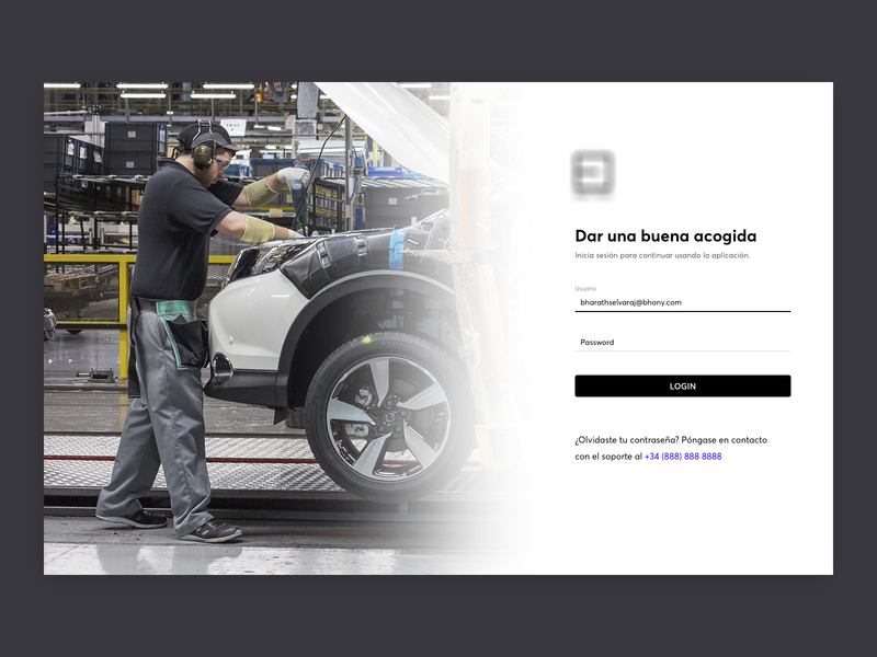 Auto Manufacturer Login automobile manufacturing login web application design