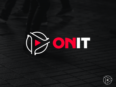 On It v.2 ( proposal ) play button communication media logo geometric red simple letter logo