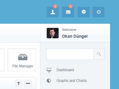 Back Office  back office admin panel dashboard blue