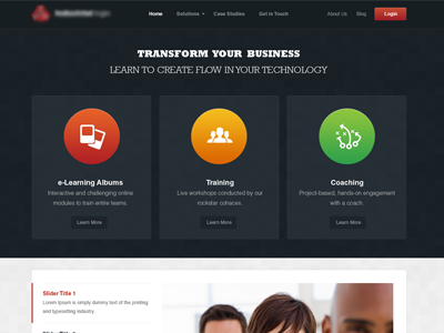 Landing Page landing page dark red white clean responsive business