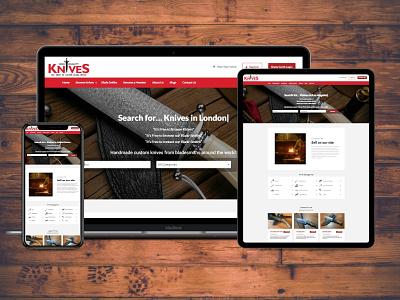 High Quality Knives ui modern design design mobile responsive wordpress website web development responsive website professional website