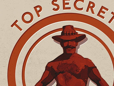 Saxton Hale - Top Secret Stamp tf2 saxton hale secret stamp saxxys paper texture red man saxxy awards