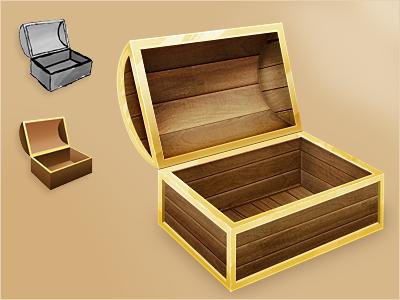 Chest Draft 512x512 treasure chest photoshop process draft