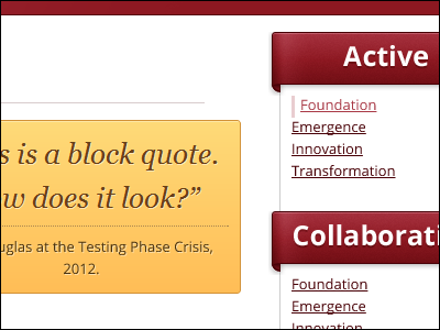 Block Quote and Navigation web web design yellow red open sans css3 html5 tim