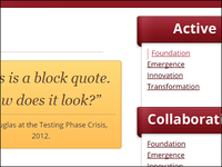 Block Quote and Navigation