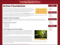 Technology Integration Matrix Sample Page
