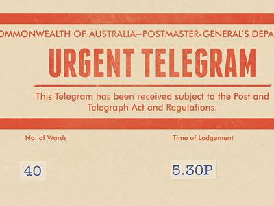 Save The Date Telegram telegram wedding australian save the date