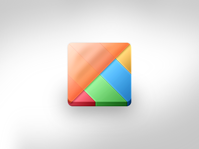 Learning Integration Matrix Icon Variant icon roundrect orange red gree blue yellow variant