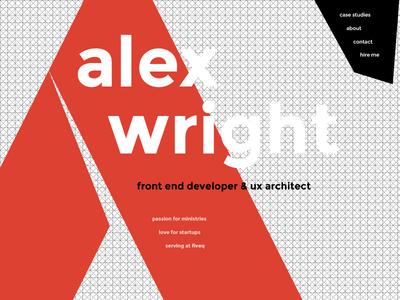 Swiss Home pattern grid design swiss homepage portfolio