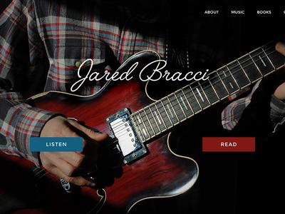 Jared Bracci Homepage script dark design website homepage musician