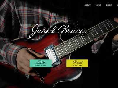 Homepage v2 script dark design website homepage musician