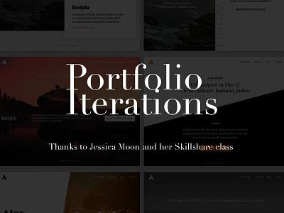 Portfolio Iterations personal site creative prompts skillshare inspiration iterate portfolio