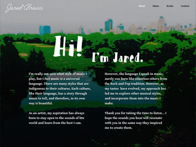 Jared Bracci About - Alternate make it pop saturation impressionism about page about